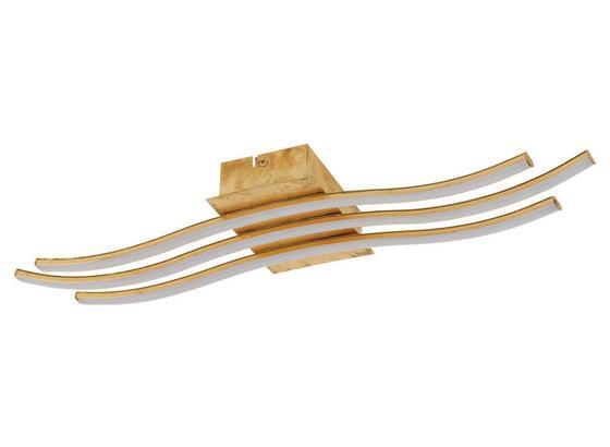 LED-Deckenleuchte Miraflores - Goldfarben/Weiß, MODERN, Kunststoff/Metall (60,5/15,5/6,5cm)