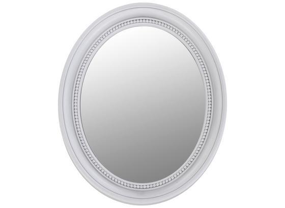 Nástenné Zrkadlo Jakob - biela, Moderný, plast/sklo (41,7/50,5/3,5cm)