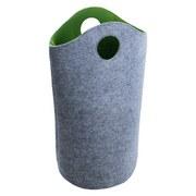 Wäschetonne Filz Grün - Grau/Grün, MODERN, Textil (32/73cm)