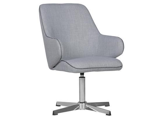 Schalenstuhl Yuma Grau Gepolstert - Anthrazit/Silberfarben, Design, Textil (64/88/64cm) - Carryhome