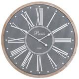 Wanduhr Vintage Paris DM: 80 cm - Weiß/Grau, Holzwerkstoff (80cm)