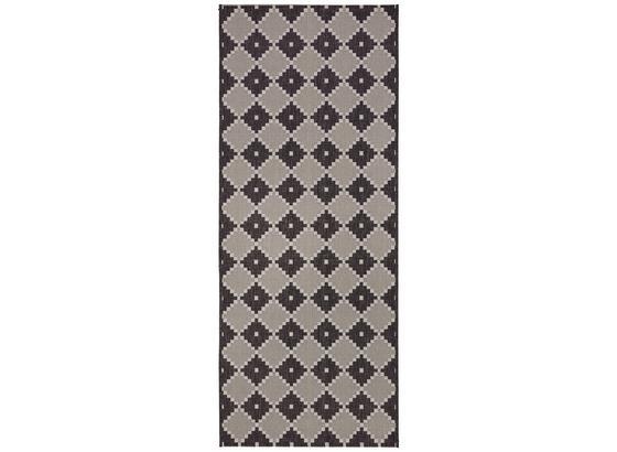 Hladko Tkaný Koberec Phoenix 2 - sivá/antracitová, Moderný, textil (80/200cm) - Modern Living
