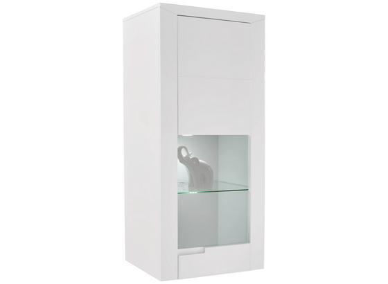 Závesná Vitrína Bree - biela, Moderný, kompozitné drevo (66/140,2/37,7cm)