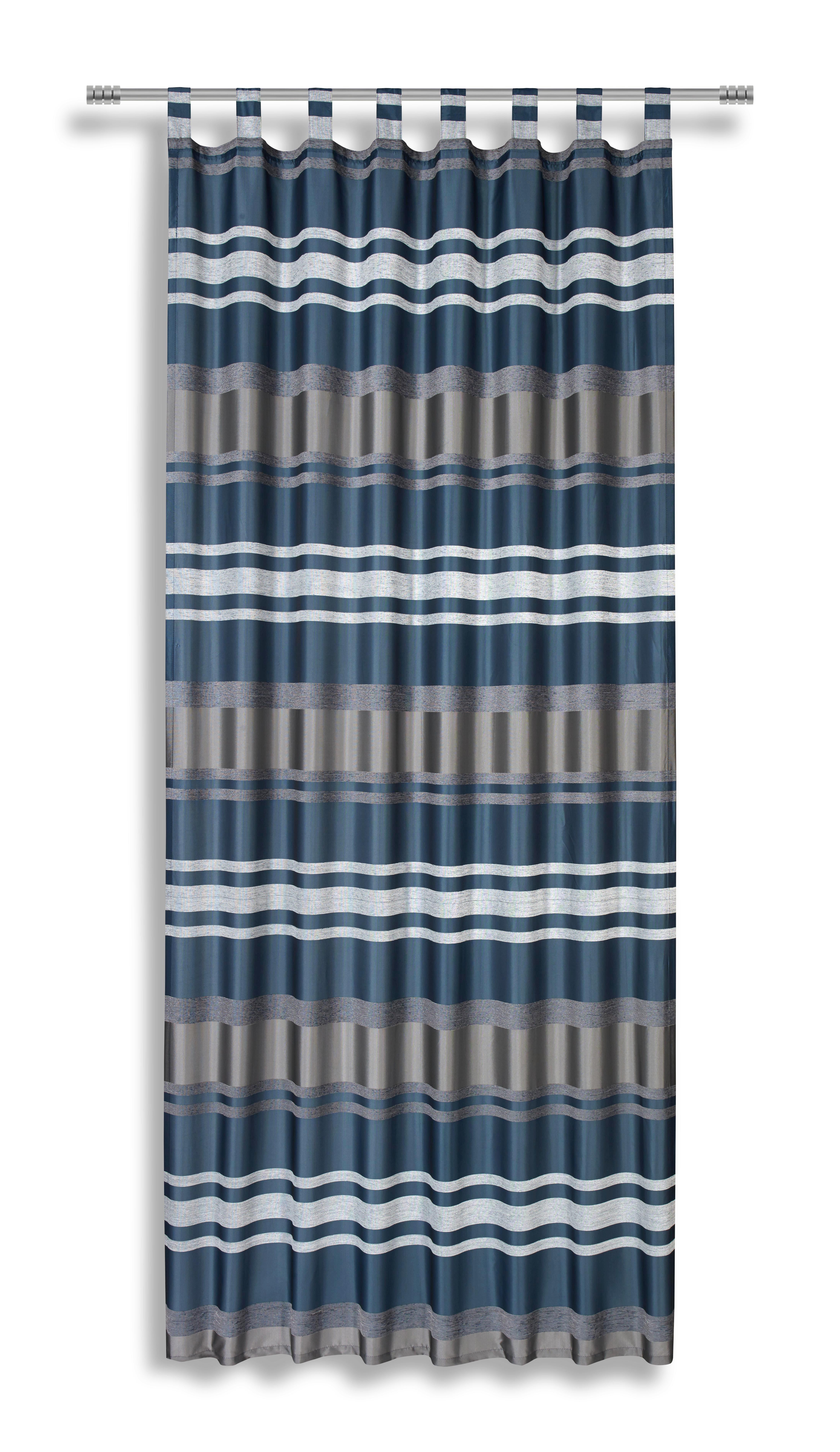 Zavjesa Sa Skrivenim Omčama Alea - petrolej, Moderno, tekstil (140/255cm) - LUCA BESSONI