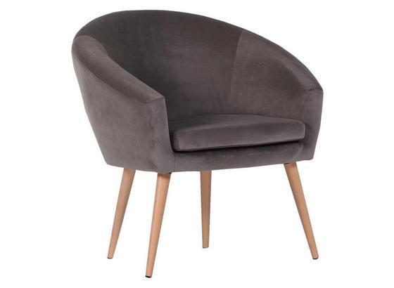 Relaxační Křeslo Jannis - tmavě šedá, Lifestyle, textil (73/73/66cm)