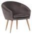 Relaxační Křeslo Jannis - tmavě šedá, Lifestyle, textilie (73/73/66cm)