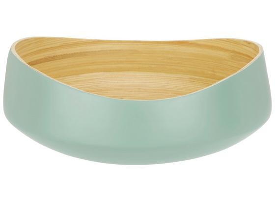 Miska Dekorační Naturelle - mátově zelená/přírodní barvy, Lifestyle, dřevo (30/12cm) - Mömax modern living