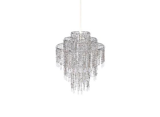 Leuchtenschirm Shine - Silberfarben, KONVENTIONELL, Kunststoff (32/43cm) - Luca Bessoni