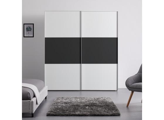 Schwebetürenschrank 200cm Includo - Anthrazit/Weiß, MODERN, Holzwerkstoff (200/222/68cm)