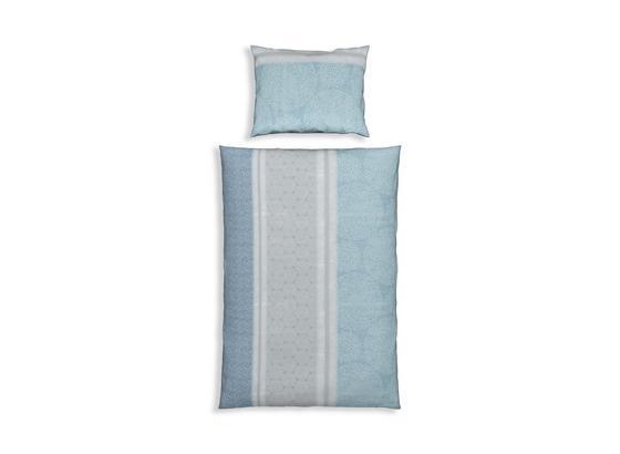 Renforcé-bettwäsche Gitte in Blau - Blau, MODERN, Textil - Luca Bessoni