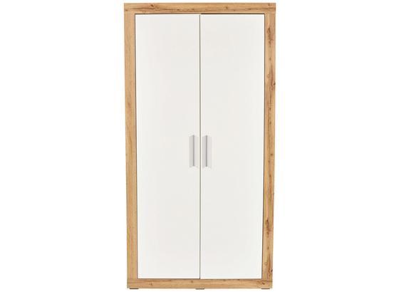 Skříň Šatní Frame - bílá/barvy dubu, Konvenční, kompozitní dřevo (98/200/52,5cm)