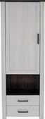 Skříň Provence - bílá/barvy wenge, Romantický / Rustikální, kompozitní dřevo (71,2/200/42cm) - James Wood