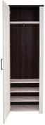 Šatní Skříň Provence - bílá/barvy wenge, Moderní, dřevěný materiál (71/200/42cm) - James Wood
