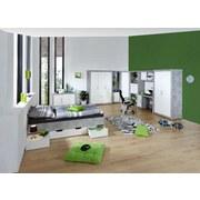 Postel Frame - bílá/světle šedá, Konvenční, dřevěný materiál (204/60/94cm)