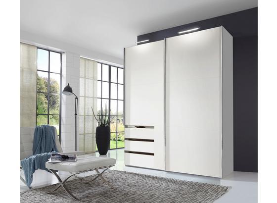 Schwebetürenschrank Level 36a B:200cm Weiß - Weiß, MODERN, Holzwerkstoff (200/216/65cm)