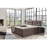 Boxspringbett mit Topper & Bettkasten 195x220cm Mercura - Braun, MODERN, Holzwerkstoff/Textil (180/200cm) - MID.YOU
