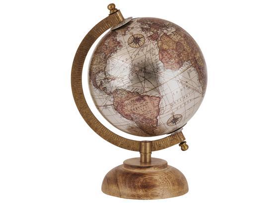 Glóbus Columbus - čierna/krémová, Konvenčný, drevo (14/21,5cm)