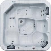 Whirlpool Acryl Capri 216x92x216 cm - Weiß/Grau, Design, Holz/Kunststoff (216/92/216cm)