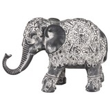 Dekoelefant Padma - Grau, ROMANTIK / LANDHAUS, Kunststoff (18/7/12cm) - James Wood