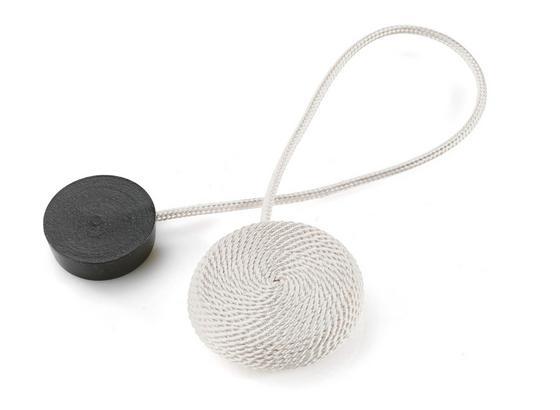 Svorka Dekorační Jan - šedá/bílá, textil (38cm) - Mömax modern living