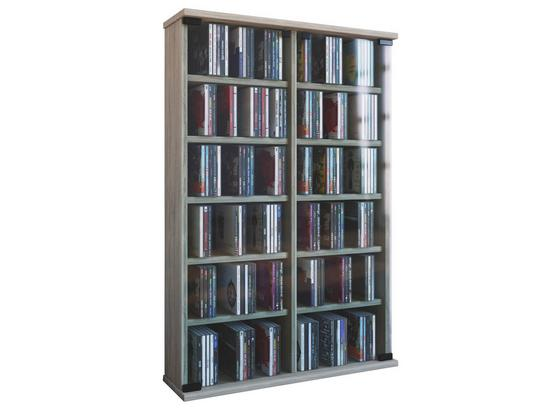 CD-Regal Roma B: 60 cm - Eichefarben, KONVENTIONELL, Glas/Holzwerkstoff (60/92/18cm) - Livetastic