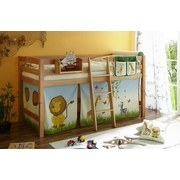 Hochbett Tipsi 90x200 cm Safari - Multicolor/Naturfarben, Natur, Holz (90/200cm) - Carryhome