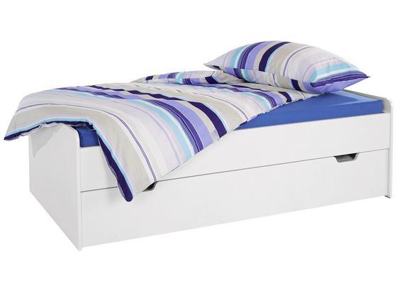 Posteľ Maxi 2 90/200 Alpská Biela - biela, Konvenčný, drevo (207/58/95cm)