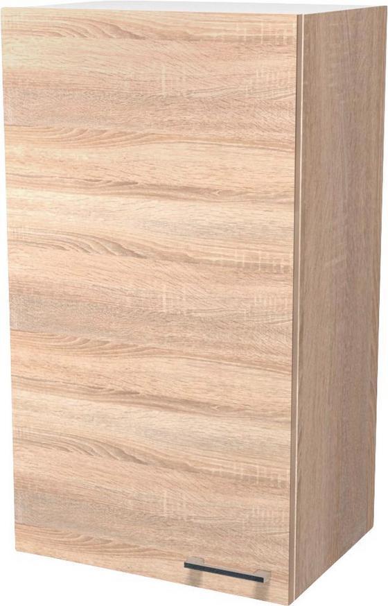 Kuchyňská Horní Skříňka Samoa  H 50-89 - bílá/barvy dubu, Konvenční, dřevěný materiál (50/89/32cm)