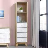 Komoda Enny - hnedá/biela, Moderný, drevo (40/160/35cm) - Modern Living