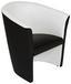 Fotel Rainbow - Fehér/Fekete, modern (69/76/59cm) - OMBRA