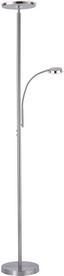 Led Stojacia Lampa Hans - farby niklu, Konvenčný, kov (30/30/181cm)