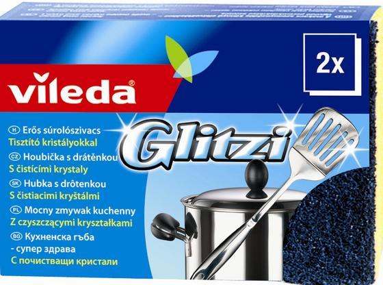 Glitzi Kristály Szivacs Vileda - konvencionális, Műanyag
