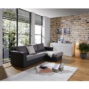 Wohnlandschaft in L-Form Action 230x160 cm - Anthrazit/Schwarz, Basics, Textil (230/160cm) - Ombra