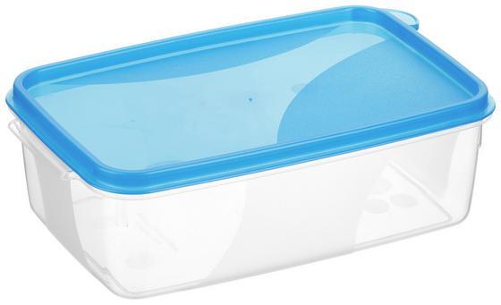 Frischhaltebox 1 Liter - Blau/Rot, KONVENTIONELL, Kunststoff (12/6.5/18cm)