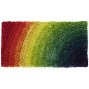 Hochflor Teppich Multifarben Adamina 60x120 cm - Multicolor, KONVENTIONELL, Textil (60/120cm) - Luca Bessoni