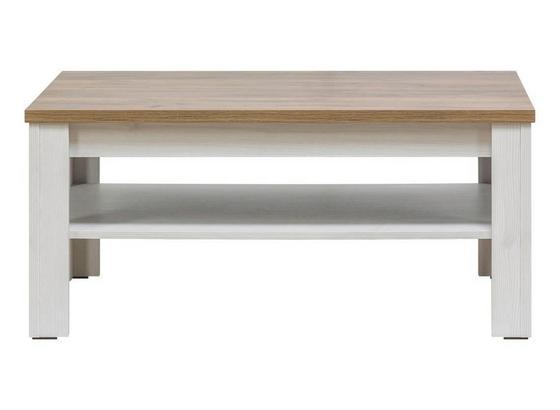 Konferenční Stolek Noto - bílá, Romantický / Rustikální, dřevo (67,5/48/104cm)