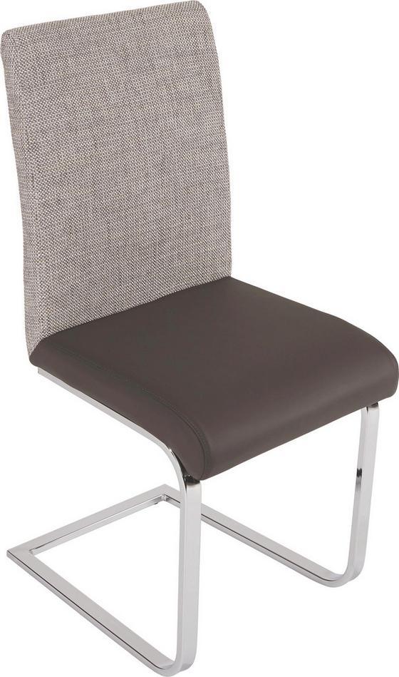 Schwingstuhl Vis - Dunkelgrau/Hellgrau, MODERN, Kunststoff/Textil (44/96/60cm)