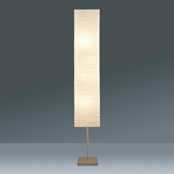 Lampa Stojací Antonio - bílá/barvy stříbra, Konvenční, kov/papír (25/159/25cm) - Mömax modern living