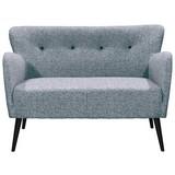 Zweisitzer-Sofa Terence B: 130 cm Silberblau - Blau/Silberfarben, KONVENTIONELL, Textil (130/83/80cm) - Carryhome