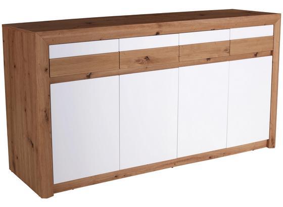 Komoda Kashmir New Kak07 - bílá/barvy dubu, Moderní, kompozitní dřevo (185/89/41cm) - James Wood