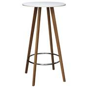 Barový Stôl Levi - prírodné farby/biela, Moderný, kov/drevo (60/110cm) - Ombra
