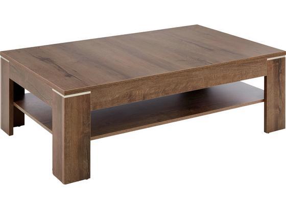 Konferenčný Stolík Tokio/lacjum - farby dubu/bahenná hnedá, Moderný, kov/kompozitné drevo (120/43/75cm) - Based