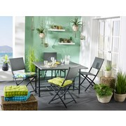 Sada Na Balkon Torino - tmavě šedá, Moderní, kov/umělá hmota - Mömax modern living