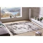 Webteppich Jana 160x230 cm - Anthrazit/Hellgrau, Textil (160/230cm) - Ombra