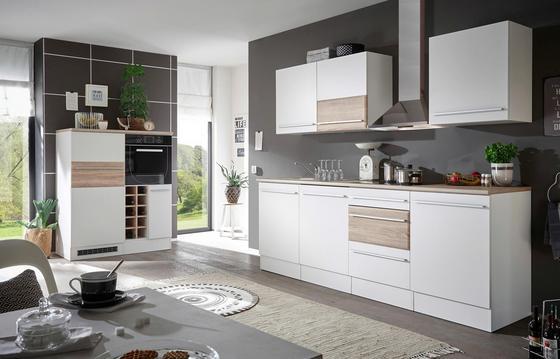 Kuchyňský Blok Welcome Big - bílá/Sonoma dub, Moderní, dřevěný materiál (240/205/60cm)