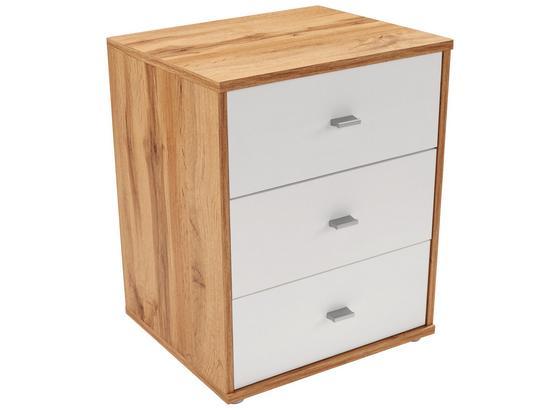Nočný Stolík 4-you New - farby dubu/biela, Konvenčný, kompozitné drevo (50/54,8/34,6cm)