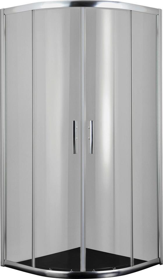 Runddusche Proline B9090c - Chromfarben, KONVENTIONELL, Glas/Metall (90/200/90cm)