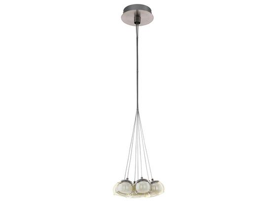 LED-Hängeleuchte Poldras - Weiß/Nickelfarben, MODERN, Glas/Metall (32,5/110cm)