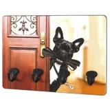 Schlüsselboard Key B: ca. 30cm Bedruckt Hund - Multicolor/Schwarz, Basics, Holzwerkstoff/Metall (30/21/5cm)