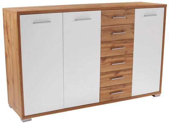 Komoda Q-big New Qbk03 - farby dubu/biela, Moderný, drevo (190/105/44cm)